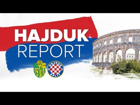 Najava utakmice Istra 1961 - Hajduk (pomoćni trener Toni Golem)