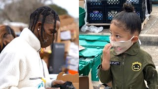 Stormi Webster HELPS Dad Travis Scott at His Holiday Toy Drive