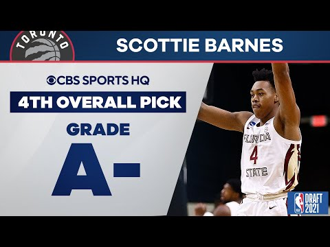 Scottie Barnes Selected No. 4 Overall by the Toronto Raptors | 2021 NBA Draft | CBS Sports HQ