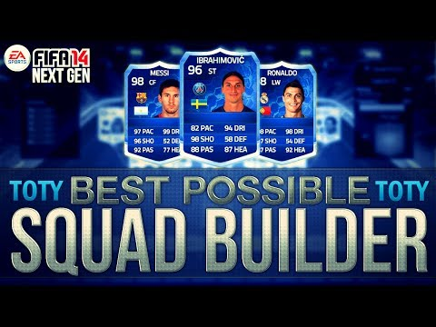 BEST POSSIBLE TEAM OF THE YEAR TEAM! w/ TOTY RONALDO   FIFA 14 Ultimate Team Squad Builder