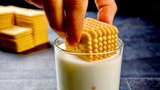 Я был в шоке!!! Стакан молока и стопка печенья! Вы больше не будете покупать СЛАДКОЕ!