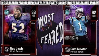 ALL MOST FEARED PROMO INFO! ALL PLAYERS, SETS, SOLOS, HOUSE RULES EVENT! | MADDEN 20 ULTIMATE TEAM