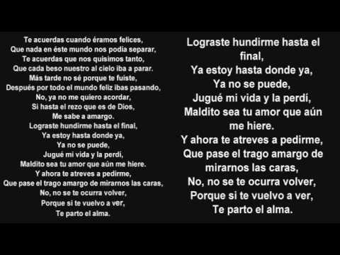 Te Parto El Alma Karaoke