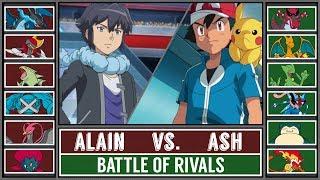 Ash vs. Alain (Pokémon Sun/Moon) - Battle of Rivals