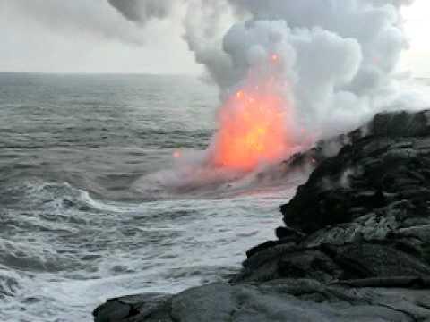 Lava Ocean Entry~Kalapana, Hawaii