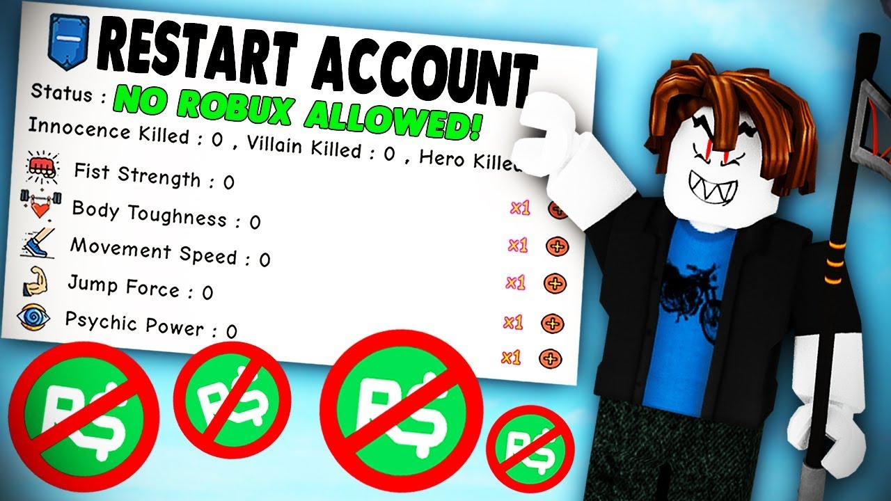 MAKING A NEW ACCOUNT AND USING NO ROBUX CHALLENGE | Super Power Training  Simulator (ROBLOX)