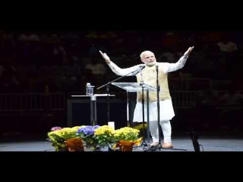 Pictures of Indian PM Sri Narendra Modi at Silicon Valley SAP Center, San Jose, CA, USA