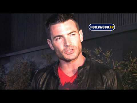 Aiden Turner Talks To Cameras At STK