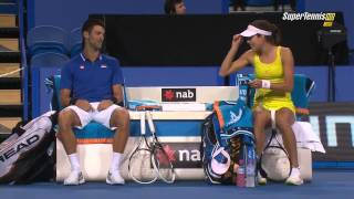 Djokovic-Ivanovic vs Schiavone-Seppi - Hopman Cup 2013