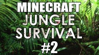 "Minecraft - ""Jungle Survival"" Part 2: Jungle Hut"
