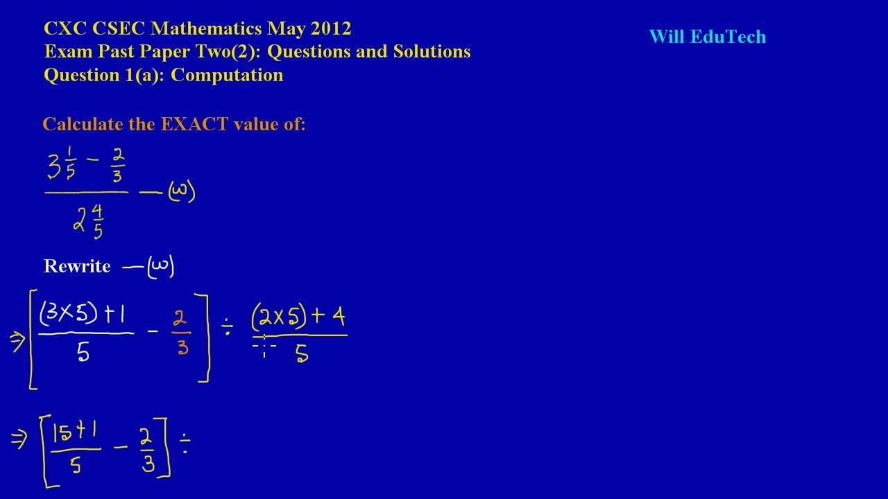 Cxc mathematics paper 2 2006 answers