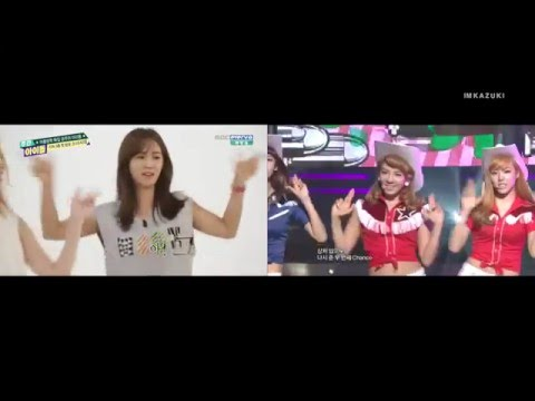 SNSD - Weekly Idol Random Dance VS Live (ENG SUB)