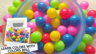Learn Colors With Colors Ball For Kids - Teaching Colors For Children