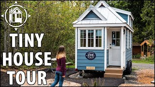 Cute Tiny House Parked in a Tiny Home Village