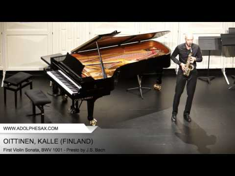 Dinant2014 OITTINEN Kalle First Violin Sonata, BWV 1001 Presto by J S Bach