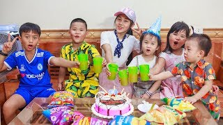 Kids Go To School | Day Birthday Of Subin Chuns And Friend Make a Birthday Cake Eat At Home