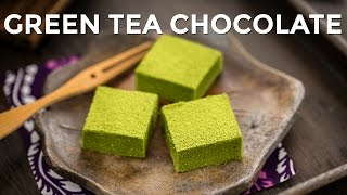 How to Make Green Tea Chocolate / Matcha Nama Chocolate