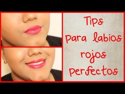 Cómo tener unos labios rojos perfectos - Tips para labios rojos perfectos