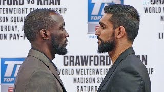 Terence Crawford vs. Amir Khan * OFFICIAL FACE OFF * NYC | Top Rank Boxing - YouTube