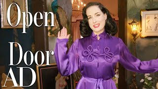 Inside Dita Von Teese's Taxidermy-Filled Home | Open Door | Architectural Digest