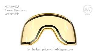 HK Army KLR Thermal Mask Lens - Luminous HD (AMBER)