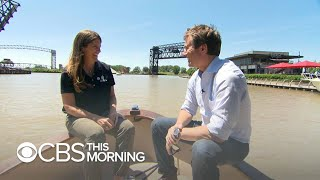 """Jeff Glor kicks off new """"CBS This Morning: Saturday"""" co-host role with report on Cuyahoga River"""