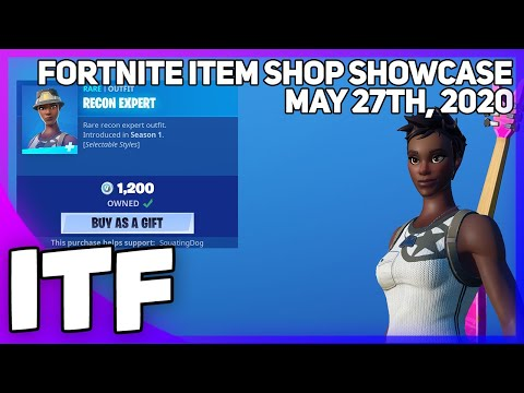 Fortnite Item Shop RECON EXPERT IS HERE! [May 27th, 2020] (Fortnite Battle Royale)