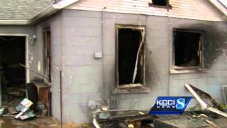 Teen punch out window to escape fire