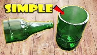how to cut glass bottle at home