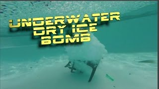 Underwater dry ice bomb destroys a table and shakes the ground