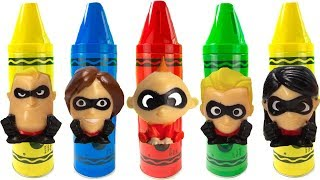 The Incredibles Colorful Crayons with Color Change Baby Jack Jack