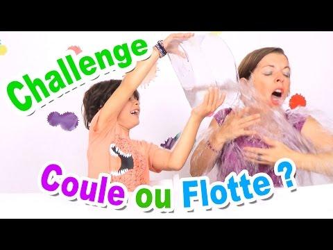 CHALLENGE COULE OU FLOTTE : Mère vs Fils ! - La famille Démo Jouets
