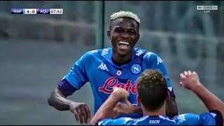 Victor Osimhen Debut Hattrick For Napoli 🔥