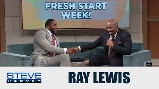 Ray Lewis meets the man who named him || STEVE HARVEY