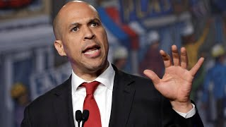 Sen. Cory Booker holds campaign rally in Newark