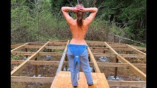 Girl Builds Off Grid Yurt Alone in Canadian Wilderness | Ep.13