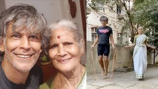 Milind Soman's 80 yr old mom proves age is just number; sk..