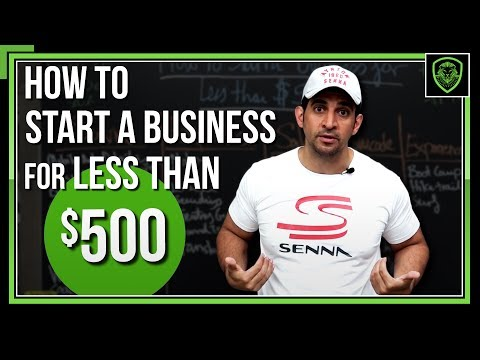 How to Start a Business for Under $500