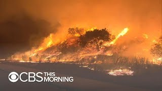 Wildfires erupt in California, destroying homes and vehicles