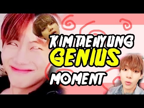 BTS V KIM TAEHYUNG Genius moment 1