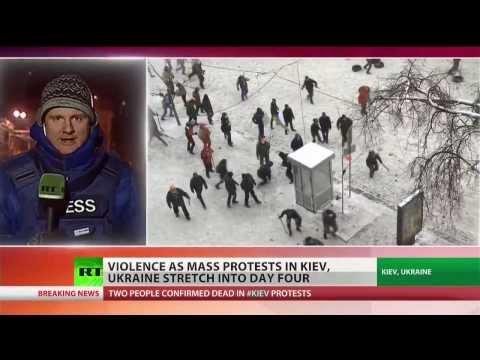 Kiev war zone: Violent clashes in Ukrainian capital