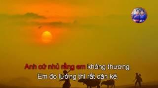 KARAOKE(09.B): GIẬN THƯƠNG (giọng nữ, dân ca xứ Nghệ)