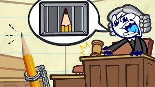 Pencilmate's STUCK in Court! | Animated Cartoons Characters | Animated Short Films