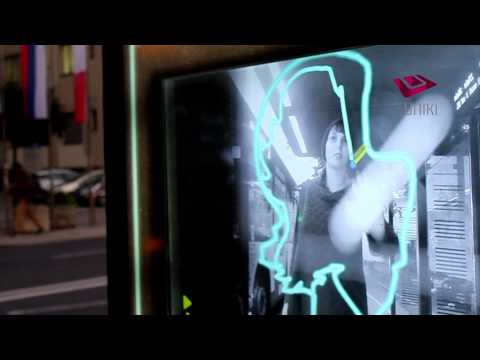 Gesture Interactive Graffiti on Outdoor Bus Station Screens