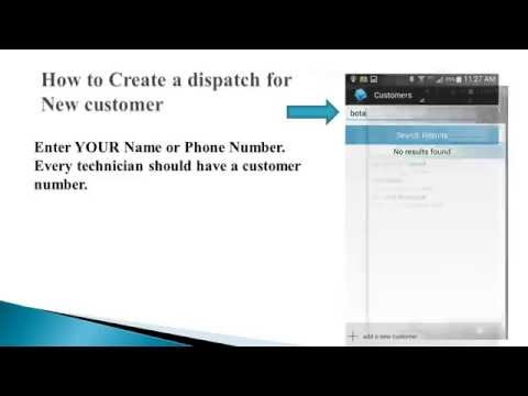 How to create Dispatch New customer