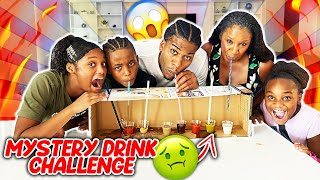 MYSTERY DRINK CHALLENGE WITH MY FAMILY!