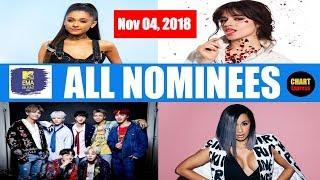 EMA's 2018 - ALL NOMINEES   MTV European Music Awards Nominations   November 04, 2018   ChartExpress