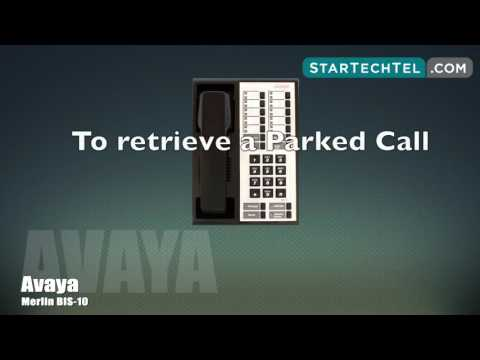 How To Park & Pickup A Call On The Avaya Merlin BIS-10 Phone