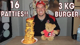 CHEESY 3kg Chainsaw Massacre BURGER Challenge!!