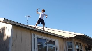 Knife Trick Shots Off Roof!